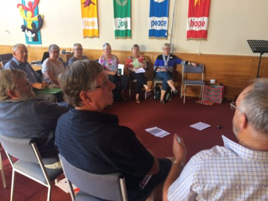 Parish meeting at Durham Street Methodist church in Christchurch New Zealand